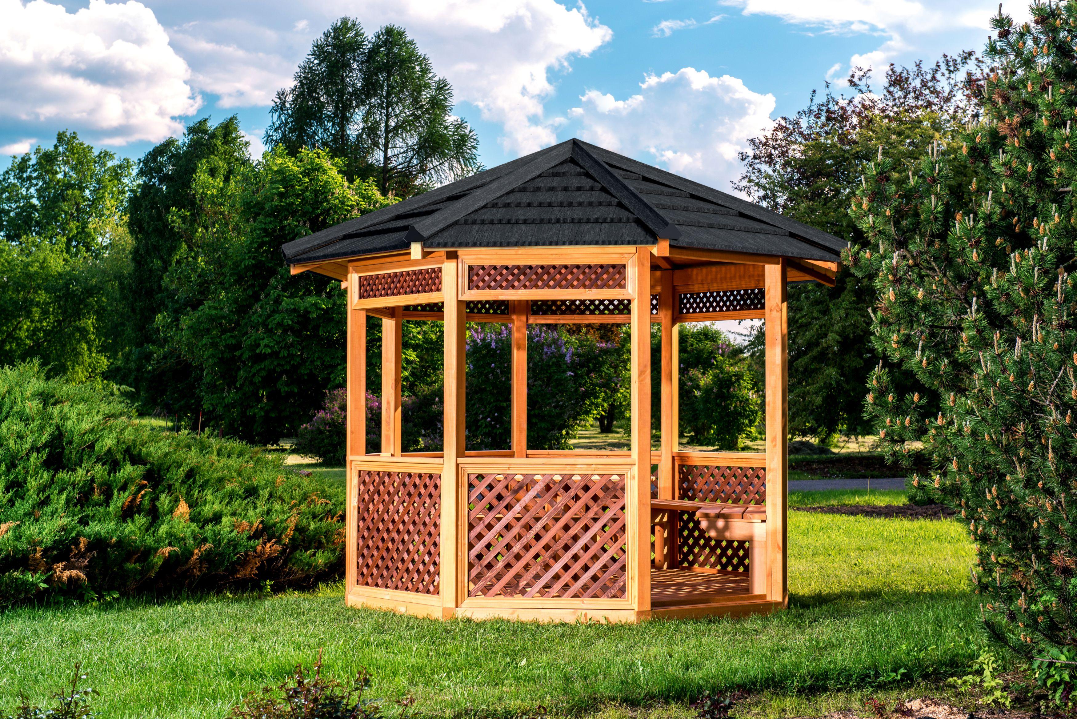 Садовые беседки с мангалом барбекю и печкой: летние кухни 6