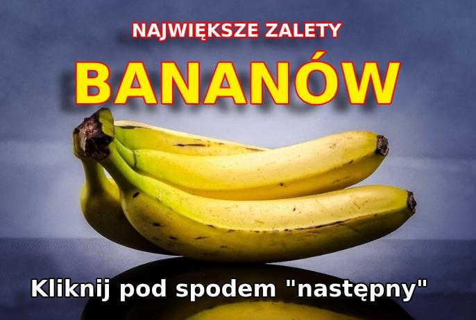 Zalety jedzenia bananów