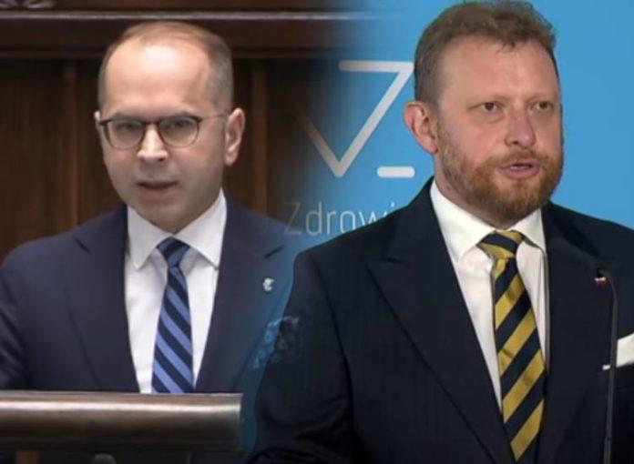 Michał Szczerba i Łukasz Szumowski