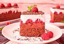 Przepis na ciasto czekoladowe z malinami