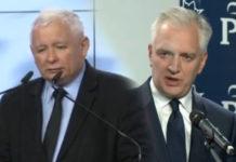 Jarosław Kaczyński i Gowin rząd PiS