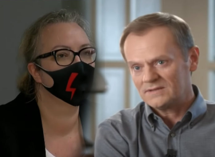 Marta Lempart i Donald Tusk