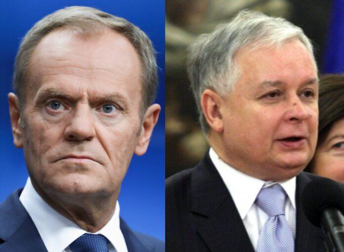 Donald Tusk i Lech Kaczyński