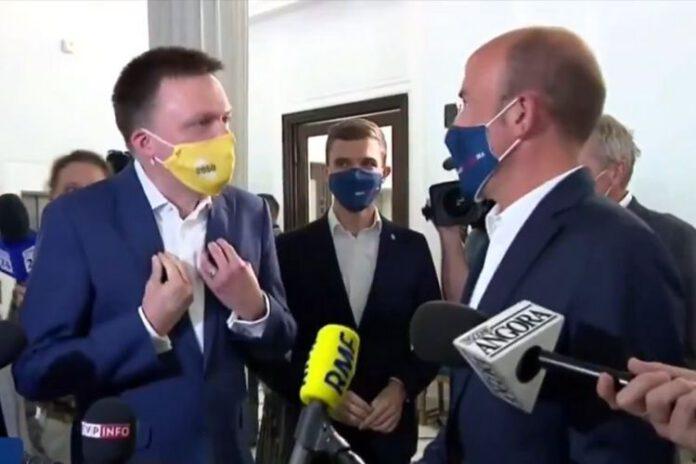 Szymon Hołownia i Borys Budka