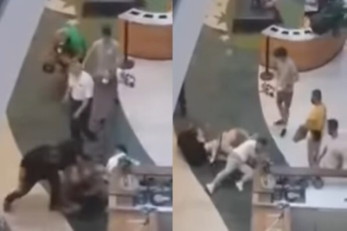atak nożownika w centrum