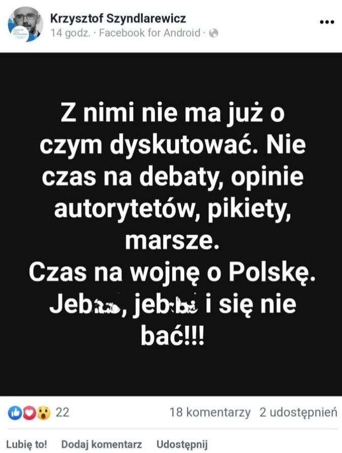 szyndlarewicz o pis