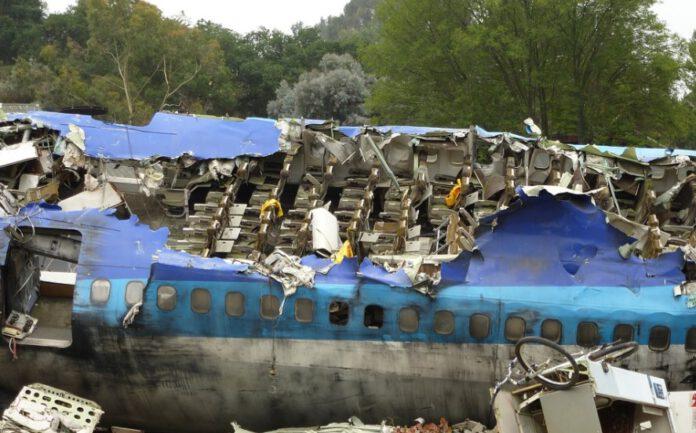 samolot runął na domy